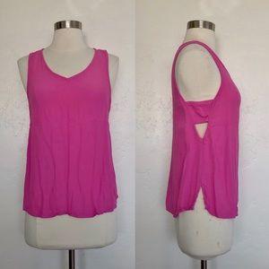 Socialite Pink Cutout Sleeveless Blouse Size M